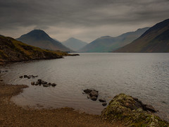 Wast Water (jerryms) Tags: wast wastwater lake district scene scenic clouds hills olympus omd em 5