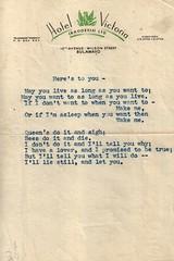 An Erotic Love Note (sandpiper1948) Tags: erotica lovenote africa rhodesia bulawayo zimbabwe hotelvictoria ephemera 1950s 1960s poetry typed britishempire anonymous affair