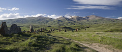 Zorats Karer, a prehistoric archaeological site, near the town of Sisian in the Syunik Province of Armenia.