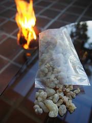 Frankincense (Carrascal Girl) Tags: frankincense dhahran cebu philippines dusk coals fire smoke patio middleeast