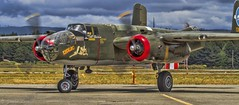 Coming to Rest (-JRL- Photo's) Tags: canon7d canon100400f4556lisusm collingsfoundation b25 tondelayo airplane aircraft airshow ww2 topazsoftware