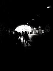 Seven days to see the light (S Clark) Tags: generalelection uk blackandwhite monochrome london londonist eastlondon londonstreet londoncity shoreditch streetlife streetphotography street tunnel light urbanlights canon canonpowershotg12