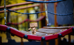 Over the bridge (CecilieSonstebyPhotography) Tags: bokeh fun playground danbo bridge autumn walking toy canon ef50mmf12lusm october walk