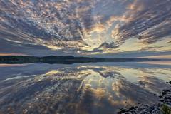 Reflections (gaudreaultnormand) Tags: canada leverdesoleil printemps quebec reflections saguenay sunrise ciel sky paysage eau fjord reflet