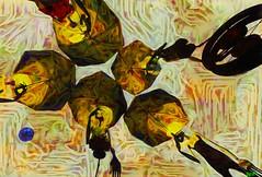 Dead end / Artist : Romy Nayar (Bamboo Barnes - Artist.Com) Tags: surreal ronynayar metales art installation emptyminds virtualart digitalart photo painting moon sky girls umbrella yellow tan blue black red light shadow bamboobarnes