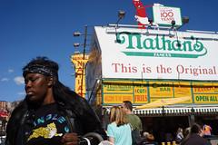 Nathan's (dtanist) Tags: nyc newyork newyorkcity new york city sony a7 konica hexanon 40mm brooklyn coney island nathans restaurant stillwell original hot dog