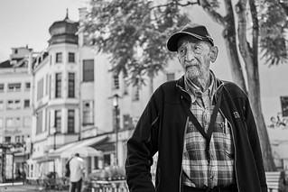 Saarbrücken Street Mann 1 b&w