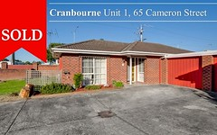 1/65 Cameron Street, Cranbourne Vic