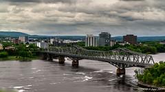 Ottawa, Ontario, Canada: Alexandra Bridge viewed from Parliament Hill (nabobswims) Tags: bridge ca canada hdr highdynamicrange lightroom nabob nabobswims ontario ottawa ottawariver photomatix sel18105g sonya6000