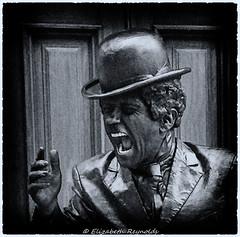 Day 167 (lizzieisdizzy) Tags: blackandwhite blackwhite black whiteandblack white statue moving famous figure charlie chaplin bowler bowlerhat performer filmactor silentmovie movie silent hand moustache