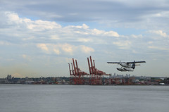Takeoff (mag3737) Tags: floatplane cranes coalharbour vancouver