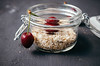 Homemade muesli with toasted rolled oats and cherry (wuestenigel) Tags: glass dessert breakfast table muesli smoothie healthy diet bircher food homemade cereal nuts meal porridge desert berry jar oatmeal tasty lifestyle fruit cherry fresh closeup yogurt health oats background snack cream gourmet delicious lebensmittel frucht noperson keineperson wood holz sweet süs beere bowl schüssel kirsche frühstück glas apple apfel jam stunde stilllife stillleben hausgemacht tabelle cooking kochen köstlich spoon löffel wooden hölzern nutrition ernährung