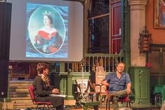 William Dalrymple and Susannah Simons (smaaaevents) Tags: bedfordparkfestivaljubilee kohinoor stmichaelandallangelsbedfordpark williamdalrymple