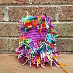 Bright orchid scrap yarn crochet cat (crochetbug13) Tags: crochet crocheted crocheting crochetcat amigurumicat scrapcat scrapyarncrochet scrapyarn crochettoy crochetanimal