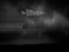 (赤いミルク) Tags: grain vignette blackandwhite monochrome ビンテージ ビニル black romantism gothic コントラスト 赤 red ウォール wall ゴースト 悪魔 ghost 友人 ドア doors 贈り物 gift 地平線 horizon モノクローム 暗い street 壁 surreal intriguing 生活 life architecture text door texture 秋 雨 overpast coast mist ocean water 賞賛 光 影 白黒 幽霊 いかだ