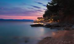 life is a beach (cherryspicks (on/off)) Tags: water sea sunset seascape landscape dusk beach sky adriatic croatia island brac longexposure