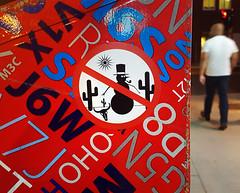 Sticker Art Montreal (Exile on Ontario St) Tags: stickerart montreal cactus cacti snowman snowmen snow man bonhomme neige arizona soleil sun round stickers sticker urban street art urbain streetart mailbox letterbox boîte aux lettres mail box letter postes canada post montréal red rouge nuit night nightshot collant autocollant