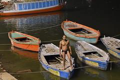 Varanasi, bathing and swimming in the Ganges (11) (walterkolkma) Tags: varanasi india ganges ganga swimming bathing streetphotography hinduism nikond5500