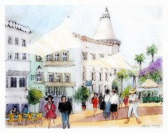 Faro - Algarve - Portugal (guymoll) Tags: faro algarve portugal aquarelle watercolour watercolor croquis sketch usk urbansketchers