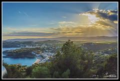 Panoramica de la Costa Brava desde el Faro de Sant Sabastian (Girona) (pagandavid174) Tags: costa brava landscape paisaje contaluz atardecer crepusculo nikon d3200 1855vrii