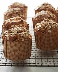 Muffins de maçã e cenoura sem glúten