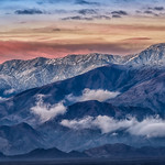 Daybreak in the Panamint Mountains, Badwater Basin, Death Valley National Park, California thumbnail