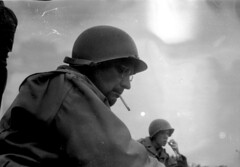 """Cigarette Break - 1944"" (photo_secessionist) Tags: soldier war recreated reenactor fakevintage ww2 army leica leicaiiia 1939 film 35mm analog blackwhite bw bn vintagecamera leitz elmarf355cmlens ilford fp4 selfdeveloped kodak d76 failure lightleak imperfect story memorialday memorial unedited sooc"