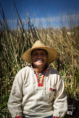 Uro chief (meet-travelers) Tags: titicaca lake a7ii sony tradition portrait indigenous travel peru puno floating island uro
