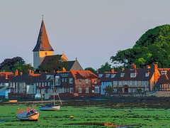 Bosham Sunrise (fstop186) Tags: bosham sunrise watercolour harbour yachts mooring tide low sea impression holytrinity church houses
