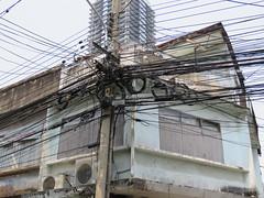 Space Invader BGK_28 (tofz4u) Tags: bangkok krungthep thailand thailande bgk28 streetart artderue invader spaceinvader spaceinvaders mosaïque mosaic tile messy electric cables wire phonelines lignestéléphoniques