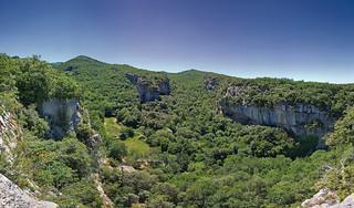 Vue depuis le fort de Buoux. Vaucluse.