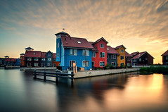 Reitdiephaven - Groningen (frata60) Tags: groningen nikon d300s 1224mm groothoek landscape landschap netherlands nederland hdr highdynamicrange reitdiep reitdiephaven houses huizen skyscape sky luchten lucht