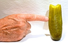 The Touching of a Pickle I Took a Taste of (ricko) Tags: pickle hand finger touching taste werehere bite 144365 2017