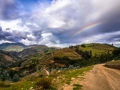 Rainbows near Macrabal, Peru.