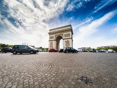 Arc de Triomphe Paris (robdewinter) Tags: paris arcdetriomphe gopro hero5 champselysees travel architecture culture sky