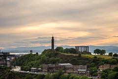 Calton Hill at sunset (ola_er) Tags: edinburgh calton hill sunset town city skyline horizon clouds sky cityscape scotland nikon