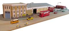 Barking Garage (kingsway john) Tags: bk barking bus garage model 176 scale diorama oogauge efe rt dms layout kingsway models card building kit miniature