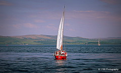 Lady in Red (Rollingstone1) Tags: lady red yacht boat sea clyde greenock scotland marine maritime hills sky outdoor sail sailing art water