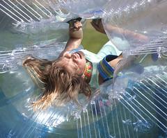 Girl in a Bubble (justtakenpictures(with a new macro)) Tags: select santa monica venice boardwalk kid child fun bubble challengeyouwinner cyunanimous 15challengeswinner plastic cy2 nobeginner