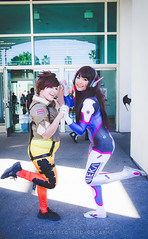Anime Los Angeles 13 - Tracer & D.Va (mambastic photography (aka mamba909)) Tags: pentax k1 sigma2470mmf28ifexdghsm cosplay コスプレ animelosangeles