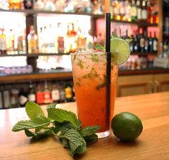 Strawberry Mojito (sarahstierch) Tags: strawberry mojito lacasarestaurant sonoma california strawberrymojito cocktail cocktails drinks alcohol booze beverage lime mint red mexicanrestaurant mexican
