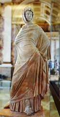 """Statue of a woman wrapped her himation - called the """"Sophocléen"""", 335-300 BC, Greece (Monceau) Tags: muséedulouvre louvre statue woman wrapped himation greek robe sophocléen greece 335300bc"""