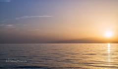 Thassos Sunset 2 (rhfo2o - rick hathaway photography) Tags: rhfo2o canon canoneos7d pachisbeach thassos thassossentidoimperialhotel greece sunset sunshine sea mist calm reflection glow beach