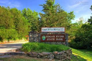 Edgar Evins State Park sign - Silver Point, Tennessee