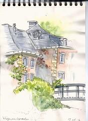 Wijnandsrade (Crokenflo) Tags: watercolor wasserfarben aquarelle sketch sketchbook usk urban sketchers croquis carnetdecroquis tekenen limburg zuidlimburg nederland netherlands wijnandsrade