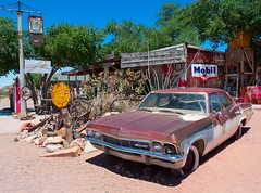 The Laws of Tourist Attraction (DaveLawler) Tags: chevy chevrolet hackberry arizona route66 route 66 western sunny hot highway america