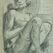 ESPAGNE 17e - Homme assis (drawing, dessin, disegno-Louvre INV18444) - Detail 18