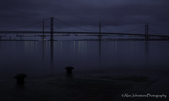 Mind The Gaps (ajp~) Tags: forthroadbridge hawespier southqueensferry scotland bridge construction pier water firthofforth sea longexposure bluehour reflections lights evening clouds sky canon 6d canon24105mmf4l canon1740mmf4l alanjohnstone