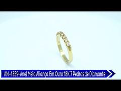 AN 4359 Anel Meia Aliança Em Ouro 18K Com 7 Pedras de Diamante (portalminas) Tags: an 4359 anel meia aliança em ouro 18k com 7 pedras de diamante