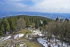 Kleť, Šumava, Bohemia (t.horak) Tags: kleť sumava bohemia mountains top observatory trip hill clouds green blue snow patches trees wood forest